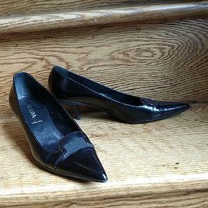 Black Prada kitten heels, size 6